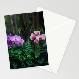 Orchid Leafy Orchid Stationery Cards