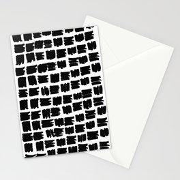 Black brush Stationery Cards