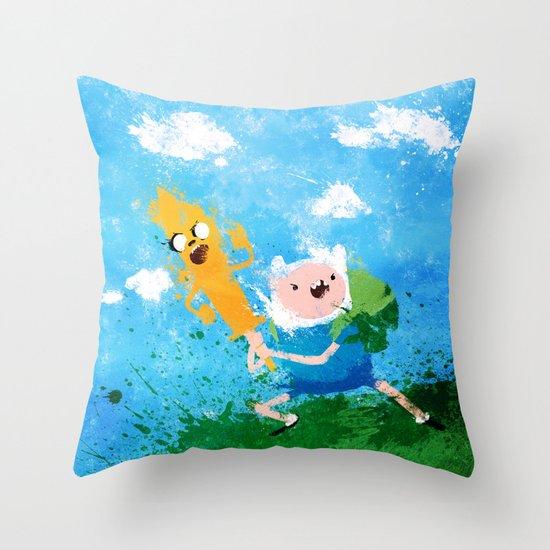 Battle Bros! Throw Pillow