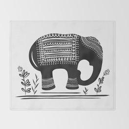Lucky Elephant Throw Blanket