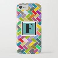 monogram iPhone & iPod Cases featuring F Monogram by mailboxdisco