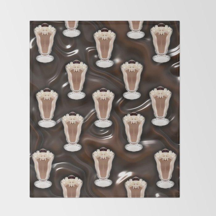Liquid Chocolate Chocolate Shake Throw Blanket