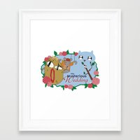 catbug Framed Art Prints featuring DramaBug by The Blue Door