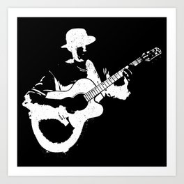Musician playing Art Print