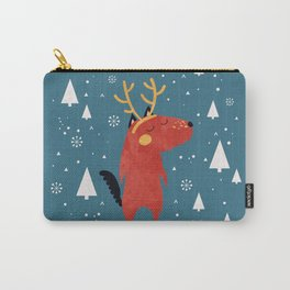 Merry Christmas Dog Card 2 Carry-All Pouch