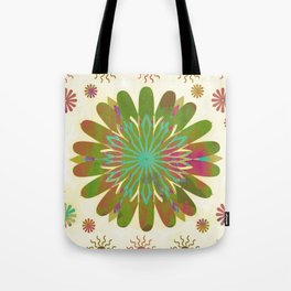 Gold flower pattern Tote Bag