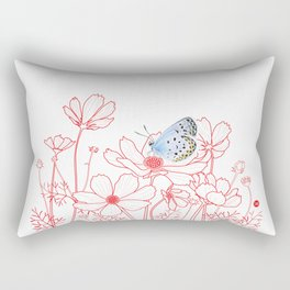 Cosmos and Butterfly Rectangular Pillow