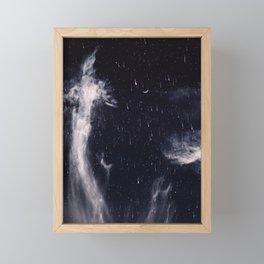 Falling stars II Framed Mini Art Print