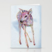 fawn Stationery Cards featuring Fawn by Anna Dunlap Hartshorn