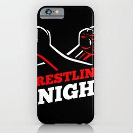 Wrestling night fighting MMA ground fight iPhone Case