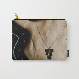 Buffalo Skull & Turquoise Carry-All Pouch