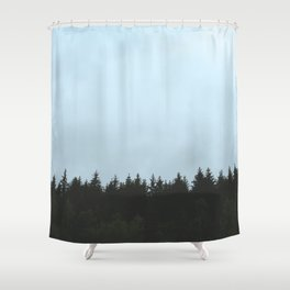 Norwegian Wood Shower Curtain