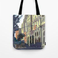 broadway Tote Bags featuring 73rd & Broadway by Aaron Lampell