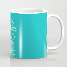 Thank God, inspirational quote for motivation, happy life, love, friends, family, dreams, home decor Coffee Mug