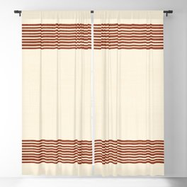Band in Rust Blackout Curtain