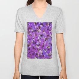 Red Violet Field Flowers Unisex V-Neck