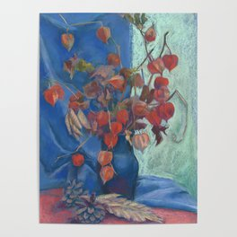 Still life with winter cherry Poster