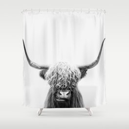Scottish Highland Cow Shower Curtain