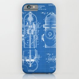 Fire Fighter Patent - Fire Hydrant Art - Blueprint iPhone Case