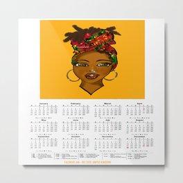 2020 Calendar/ Planner (UK) - Angelique Metal Print