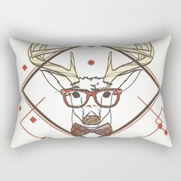 Nerd deer Rectangular Pillow