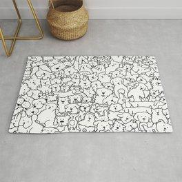 Dog Doodle Art Rug
