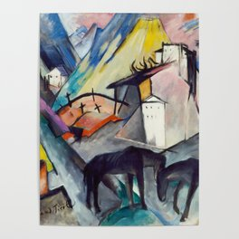 "Franz Marc ""The Unfortunate Land of Tyrol"" Poster"
