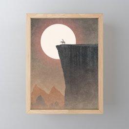 Strange Frontier: World's Edge (Sunset) Framed Mini Art Print