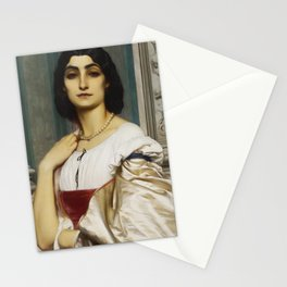 Fredric Leighton, Portrait of a Roman Lady,1859 Stationery Cards