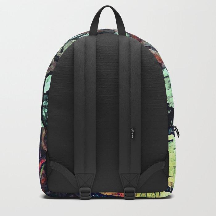 Cow Skull Floral Backpack
