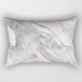 Castello silver marble Rectangular Pillow
