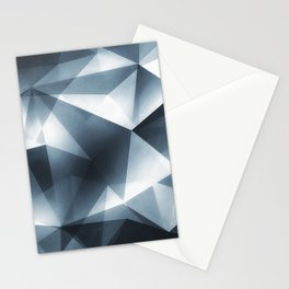 Abstract Cubizm Charcoal Drawing Stationery Cards
