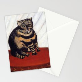 Henri Russeau, Tabby 1963, Naive Cat Artwork for Wall Art, Prints, Posters, Tshirts, Men, Women, You Stationery Cards