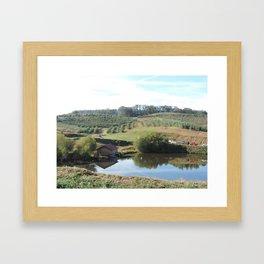 The apple orchard Framed Art Print