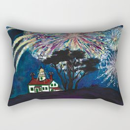 Crescent City Fourth of July ~ Battery Point Lighthouse Rectangular Pillow