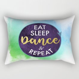 Eat Sleep Dance and Repeat faux gold foil glitter letters typography design for Dancer Rectangular Pillow