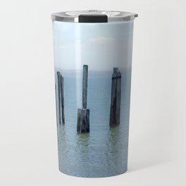 Tokeland, Willapa Bay, Washington Pier, River Pilings Travel Mug