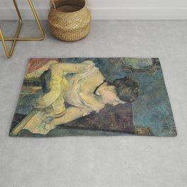 Paul Gauguin - Madame Mette Gauguin in Evening Dress (1884) Rug