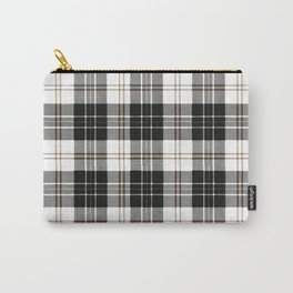 Rustic Plaid Pattern: Brown Carry-All Pouch