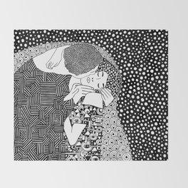 Gustav Klimt - The kiss Throw Blanket