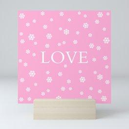 Winter Love - pink - more colors Mini Art Print