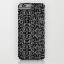 Black and White Stone Pattern iPhone Case