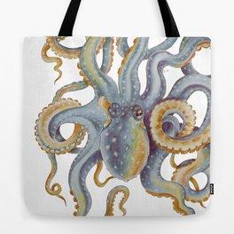 Octopus Tentacles Steel Blue Watercolor Art Tote Bag