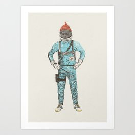 Zissou In Space Art Print