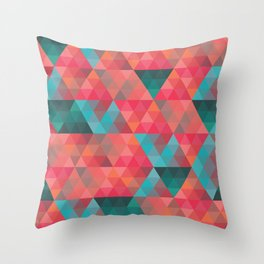 Abstract Geometric Pattern colorful triangles abstract art Throw Pillow