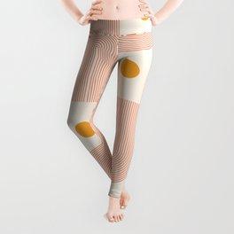 Abstraction_SUN_DOUBLE_LINE_POP_ART_Minimalism_001C Leggings