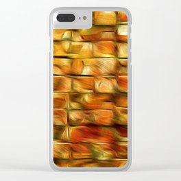 Autumn Leaves On My Patio Clear iPhone Case