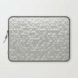 White hexagons Laptop Sleeve
