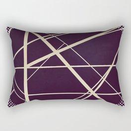 Crossroads - dot circle Rectangular Pillow