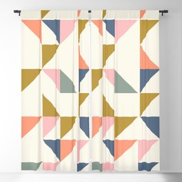 Floating Triangle Geometry Blackout Curtain